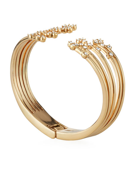 Lulu Frost Jackie Hinged Cuff Bracelet w/ Crystals