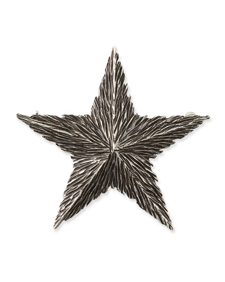 Saint Laurent Textured Star Pin