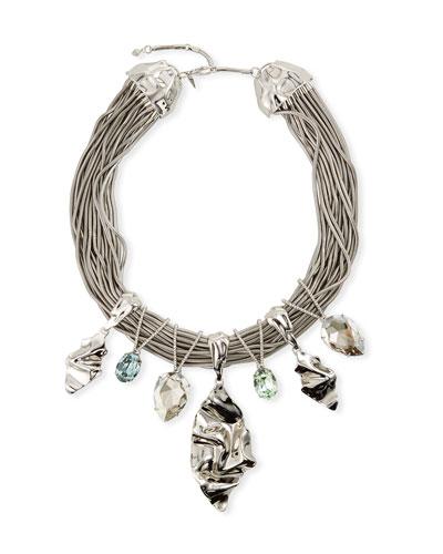 Oversized Crystal Bib Necklace