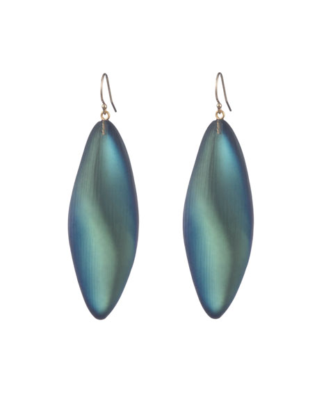 Alexis Bittar Long Leaf Earrings, Green