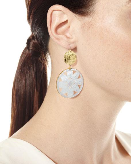 Devon Leigh Daisy Hoop Earrings