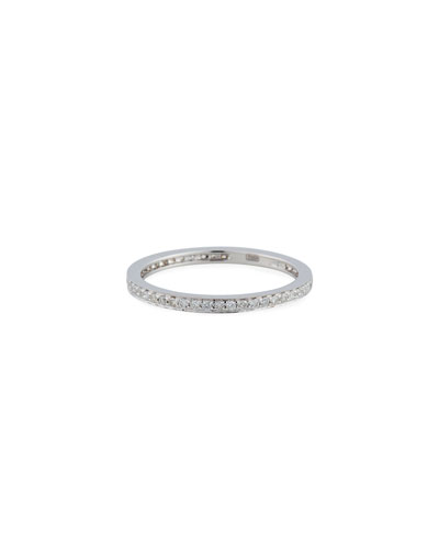 14k White Gold Diamond Eternity Band Ring  Size 5.5