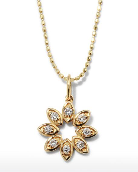 Sydney Evan 14k Diamond Marquise Flower Necklace