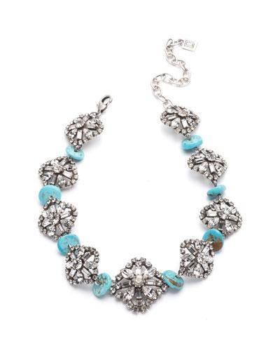 Betsy Crystal & Malachite Necklace
