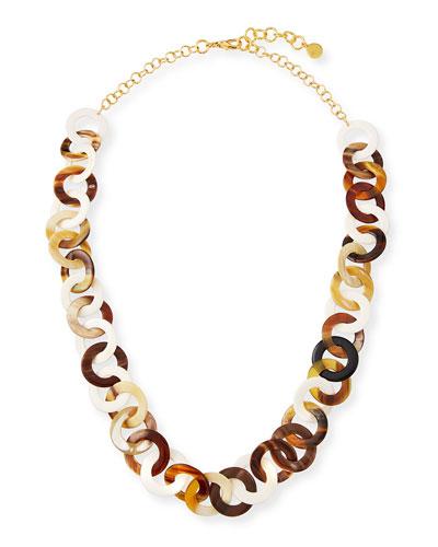 Horn & Bone Circle-Link Necklace