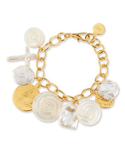 Coin Shell-Charm Bracelet