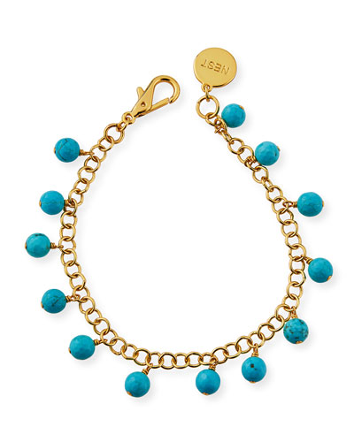 Turquoise Charm Anklet