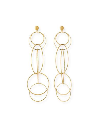 Spirale Hoop Drop Earrings