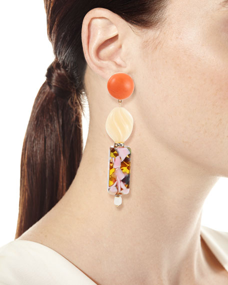 Lele Sadoughi Stacked Dangle Earrings