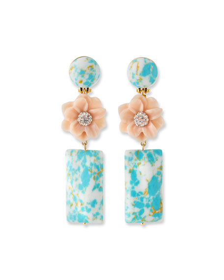 Lele Sadoughi GARDENIA DROP EARRINGS