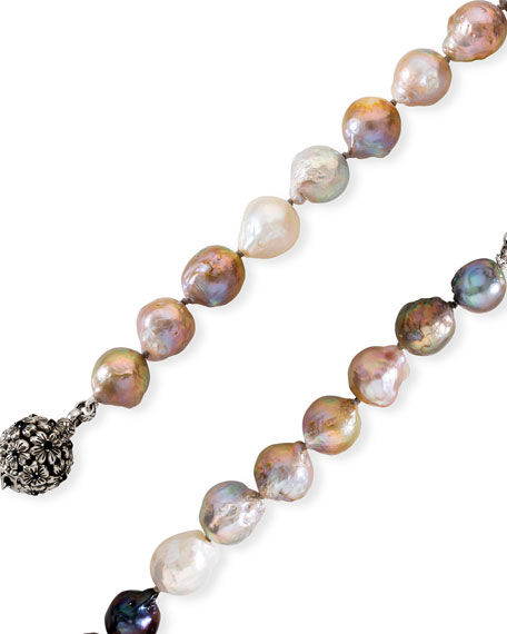 Stephen Dweck Long Multicolored Baroque Pearl Necklace