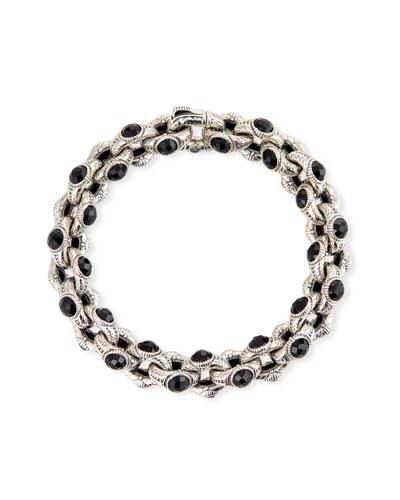 Hestia Black Onyx Oval-Link Bracelet  Medium
