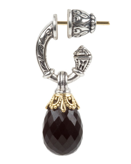 Konstantino Pythia Onyx Small Drop Earrings