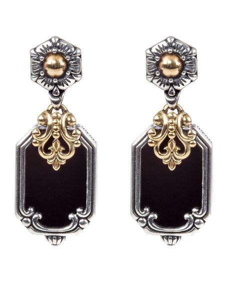 Konstantino Hestia Octagonal Onyx Drop Earrings