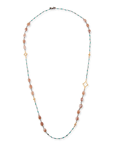 Cuento Long Crivelli & Stone Necklace  40L