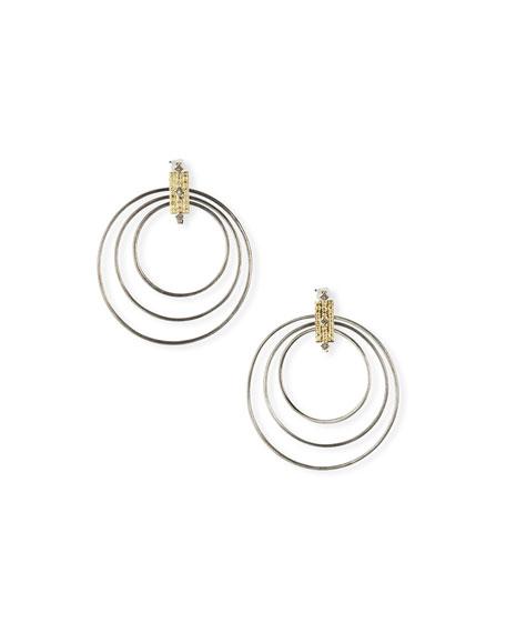 Armenta Old World Diamond Multi-Circle Earrings