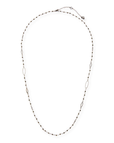 New World Long Pyrite Necklace  30L