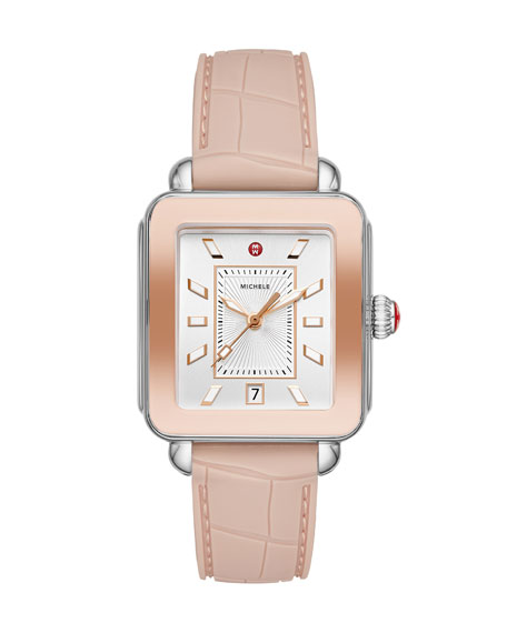 Image 1 of 3: Deco Sport Silicone Embossed Watch in Desert Rose