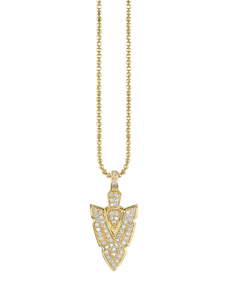 Sydney Evan 14k Diamond Arrowhead Charm Necklace