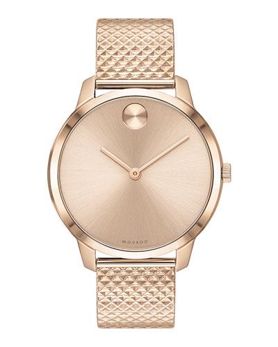 35mm Movado Bold Thin Watch w/ Mesh Bracelet  Carnation