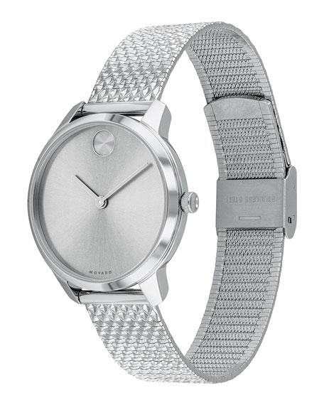 Movado 35mm Movado Bold Thin Watch w/ Mesh Bracelet