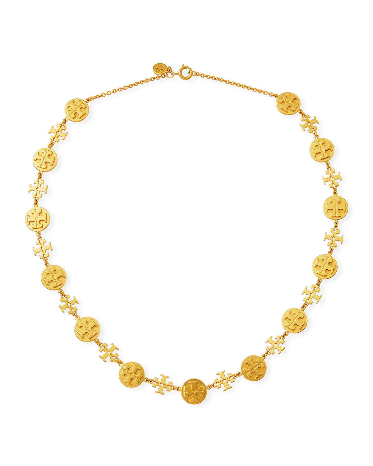 Logo Charm Necklace by Tory Burch