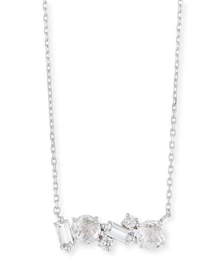 KALAN by Suzanne Kalan 14k White Gold Amalfi Mix Necklace, White