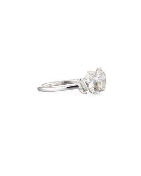 KALAN by Suzanne Kalan Bloom 14k White Gold Amalfi Mix Ring, White, Size 4-8.5