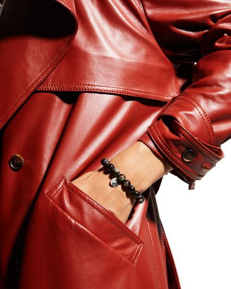 Sydney Evan 14k Yin Yang Diamond & Abalone Wood Bracelet