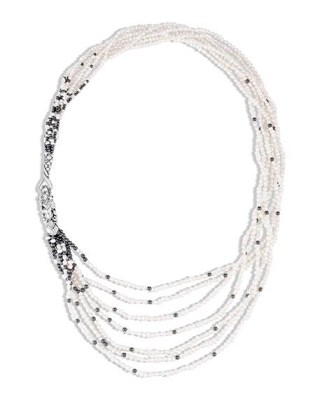John Hardy Legends Naga Layered 7-Row Pearl Necklace
