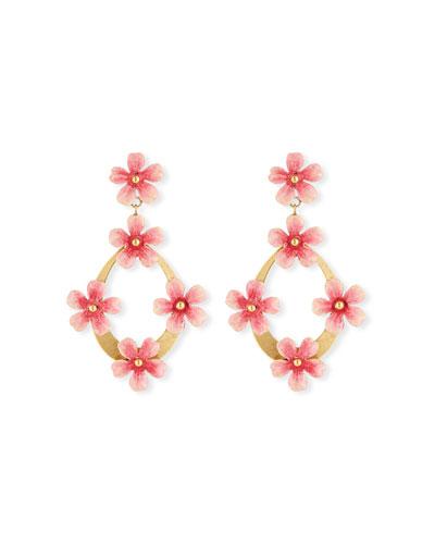 Machelle Flower Hoop-Drop Earrings