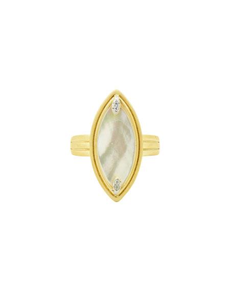 Freida Rothman Fleur Bloom Mother-of-Pearl Cocktail Ring