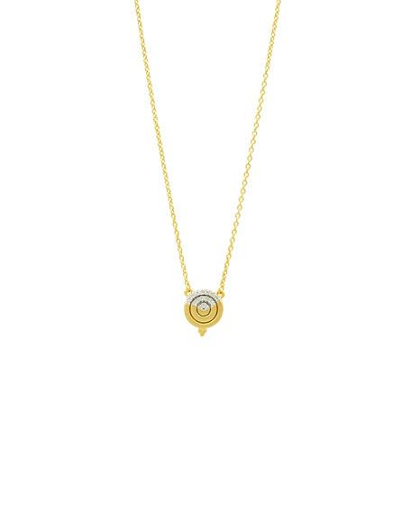 Freida Rothman Fleur Bloom Empire Small Circular Pendant Necklace