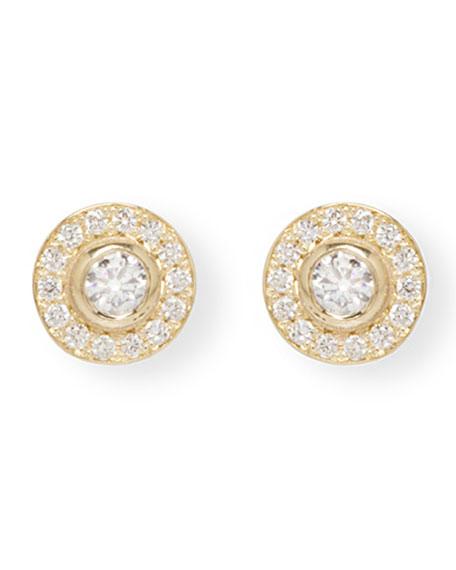 Zoe Chicco 14k Diamond Bezel & Halo Stud Earrings