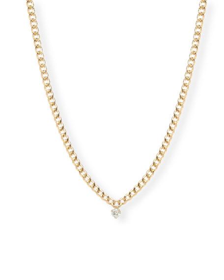 Zoe Chicco 14k Small Round-Cut Diamond Chain Necklace