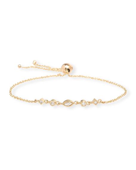 Zoe Chicco 14k Mixed 5-Diamond Adjustable Bracelet
