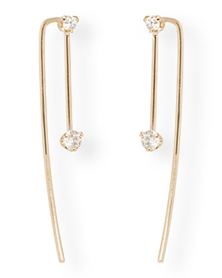 Zoe Chicco 14k Diamond Wire Earrings
