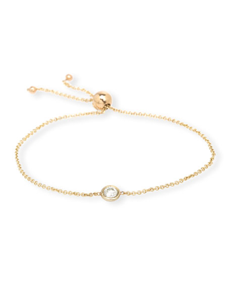 Zoe Chicco 14k Diamond Bolo Bracelet