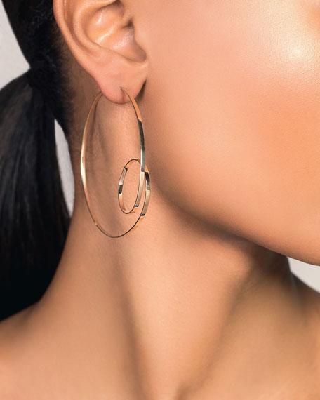 LANA 14k Gold Flat-Loop Hoop Earrings, 60mm