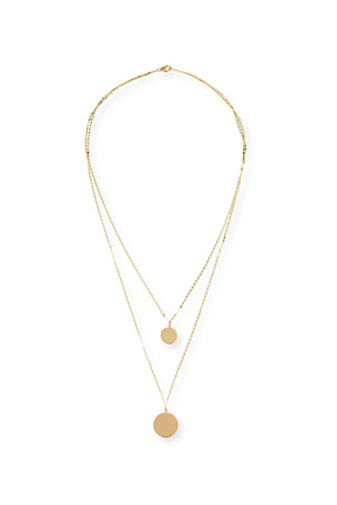 Lana 14k Disc Double-Layer Necklace
