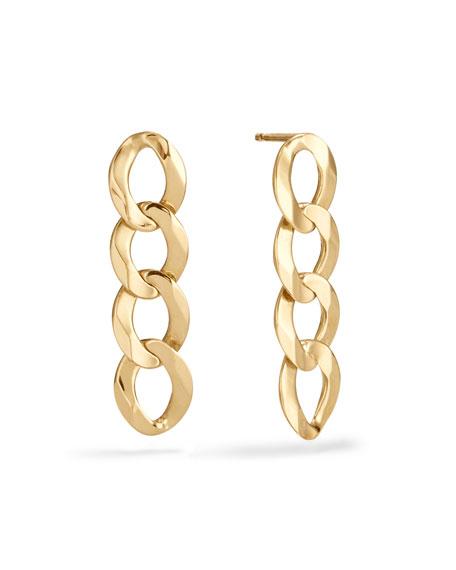 LANA 14k Curb-Chain Drop Earrings