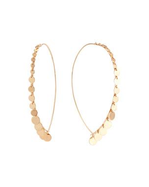 dd33dc6b7 Lana 14k Large Upside Down Hoop Earrings w/ Dangles