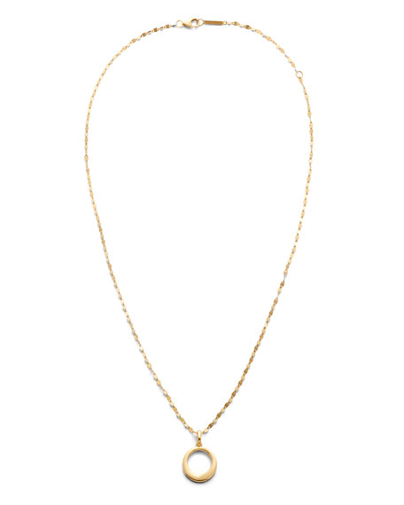 LANA 14k Bond Link Pendant Necklace