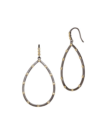 Freida Rothman Signature Bezel Teardrop Earrings