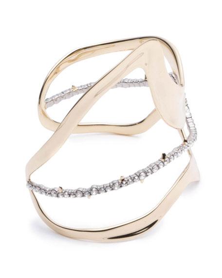 Alexis Bittar Orbit Wavy Cuff Bracelet