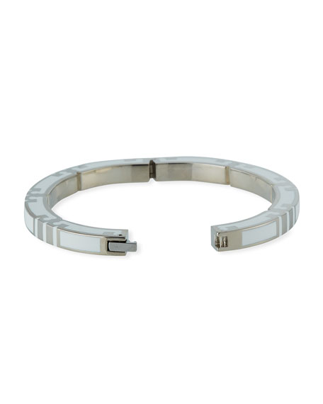 Tory Burch Serif Stripe Hinged Bracelet