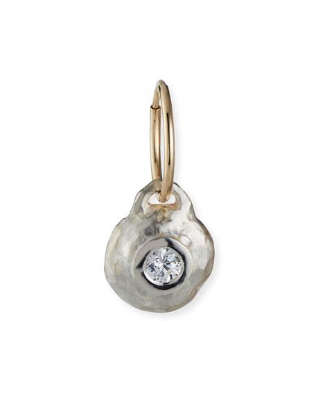 Lee Brevard Tiny Roma Earring w/ Cubic Zirconia, Single