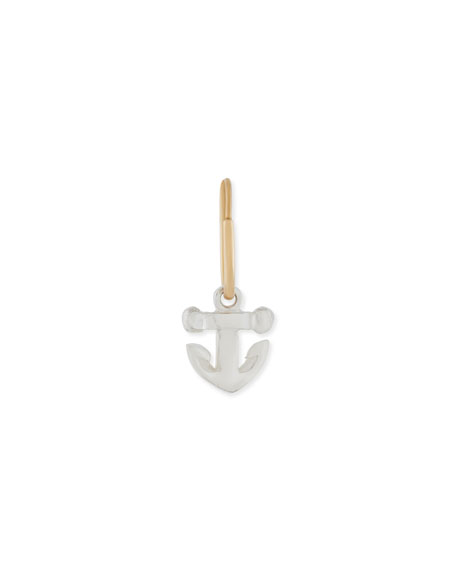 Lee Brevard Tiny Anchor Single Earring