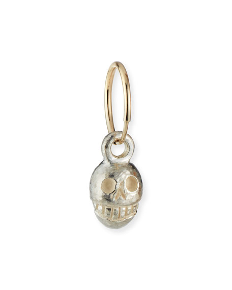 Lee Brevard Medium Pirate Skull Single Earring