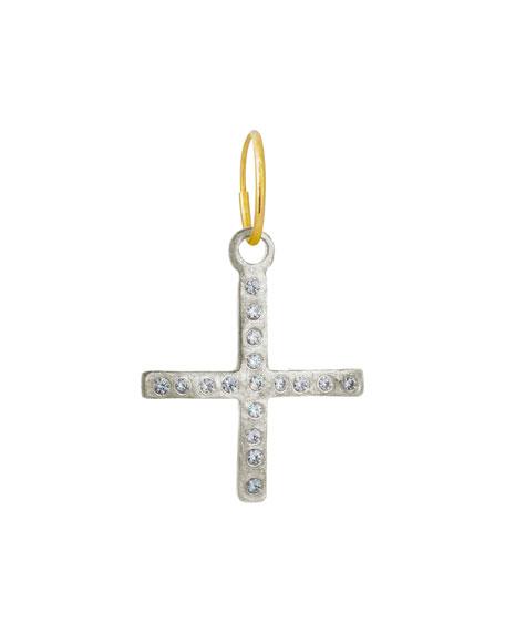 Lee Brevard Compass Cross Earring w/ Cubic Zirconia, Single